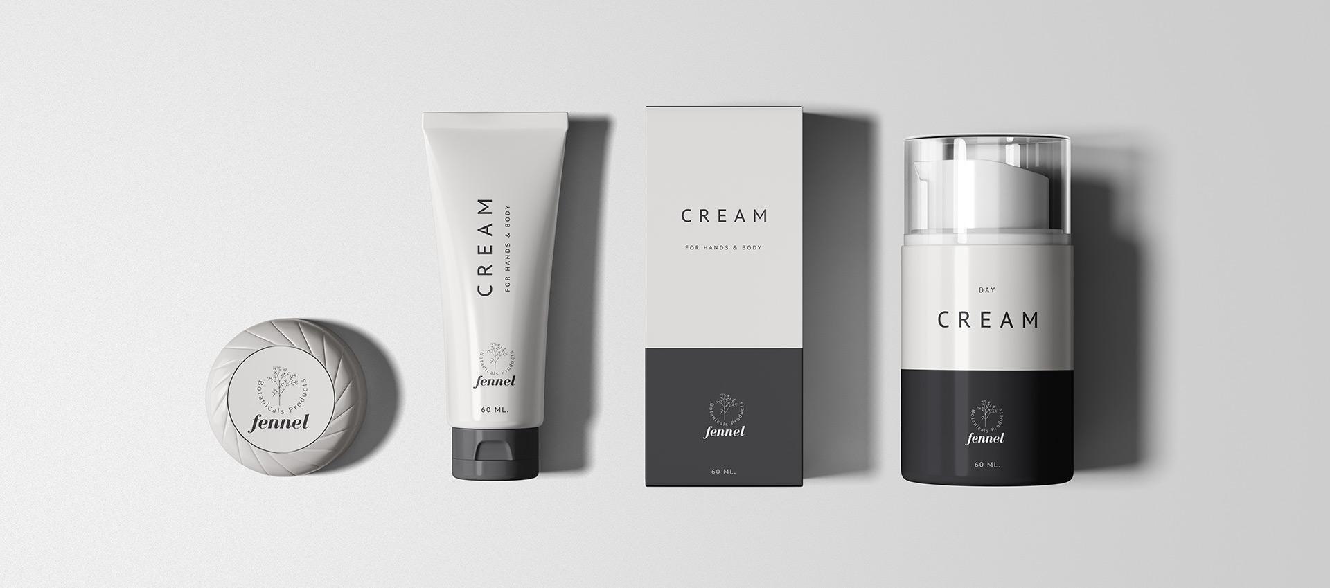 fennel cream logo design by vazirstudio.com