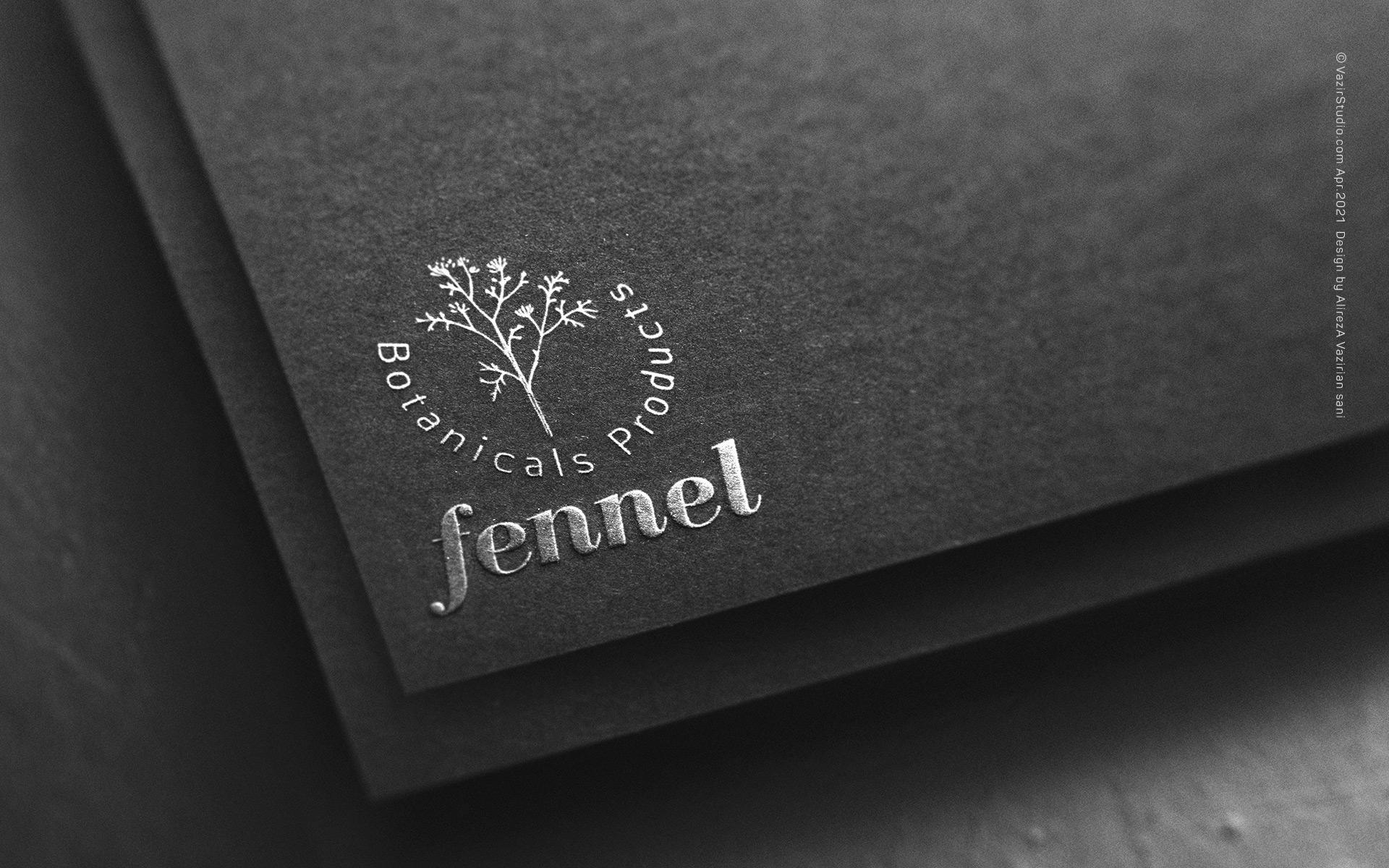 fennel botanicals products online shoping logo design by vazirstudio.com